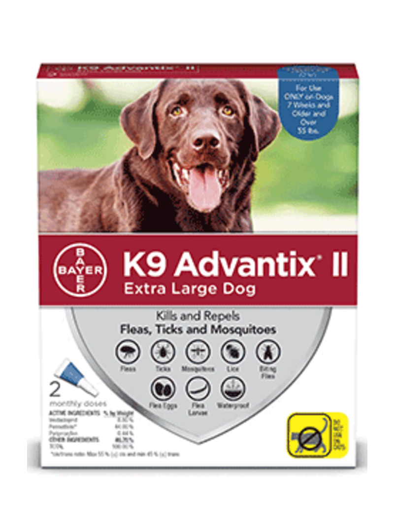 Bayer Advantix II Flea, Tick and Mosquito Prevention for XL Dogs - 2pk