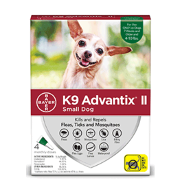Bayer Advantix II Flea Tick & Mosquito Prevention - Topical - Small - 4pk