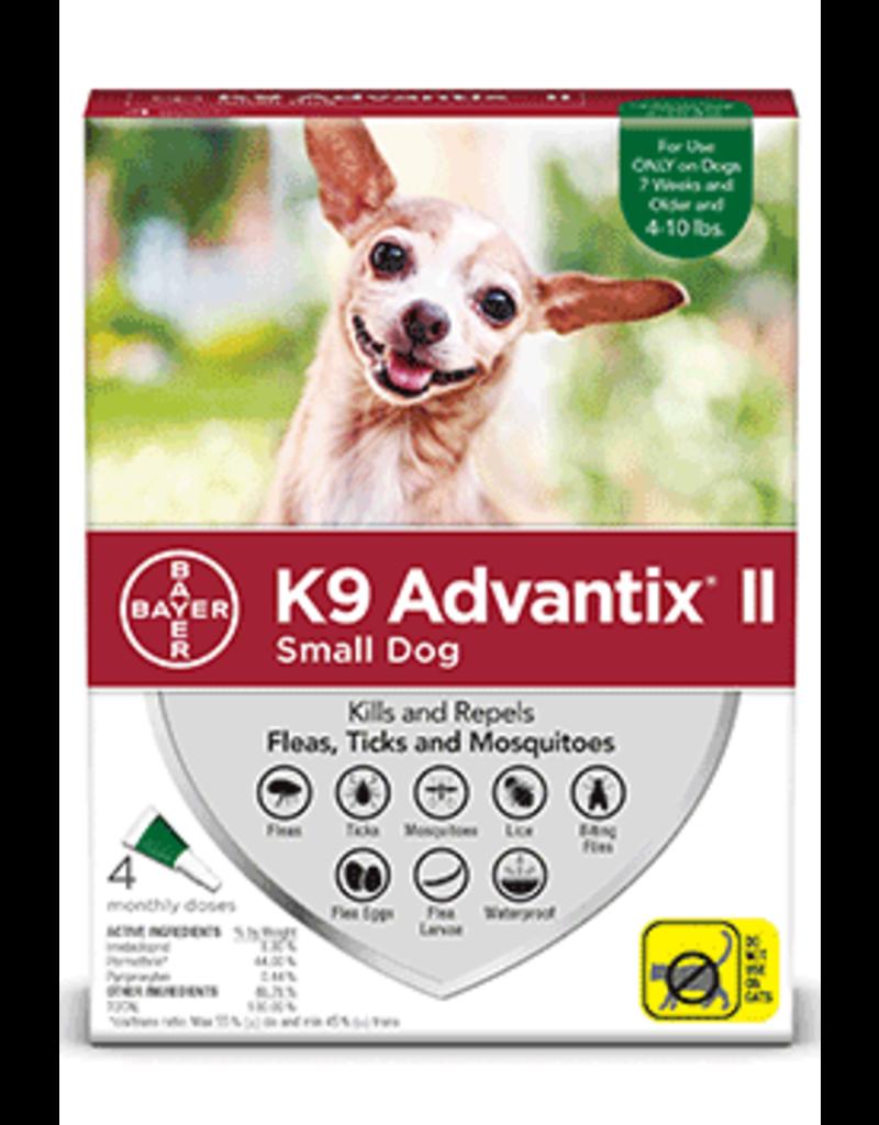 Bayer Advantix II Flea Tick & Mosquito Prevention - Topical - Small - 4pk