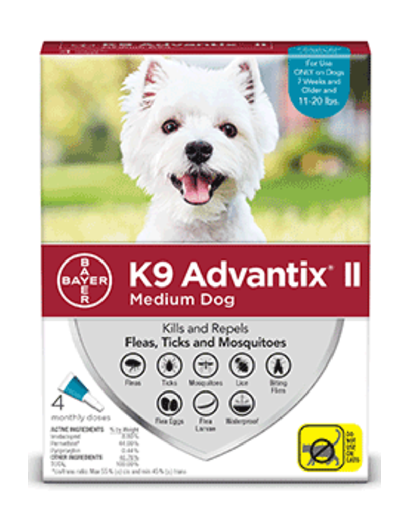 Bayer Advantix II Flea Tick and Mosquito Prevention - Topical - Medium - 4pk