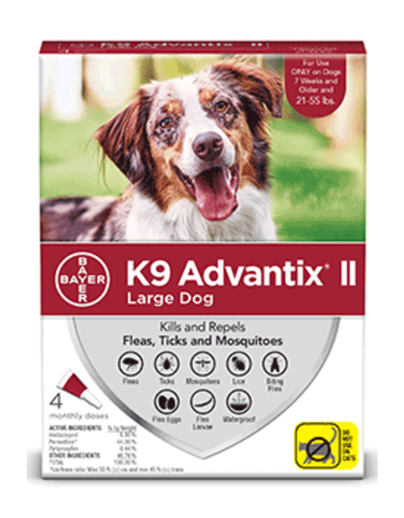 Bayer Advantix II Flea Tick & Mosquito Prevention - Topical - Large - 4pkosquito Prevention for Large Dogs - 4pk