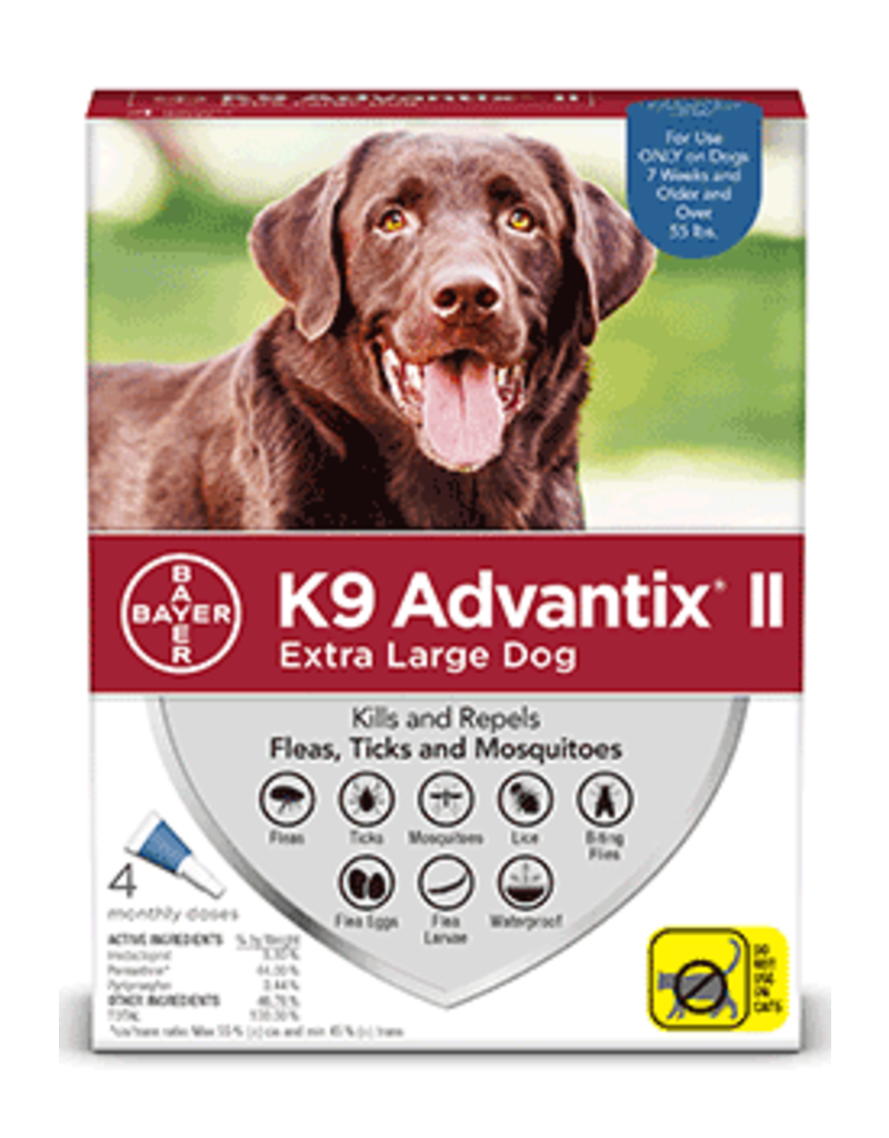 Bayer Advantix II Flea Tick & Mosquito Prevention - Topical - XL - 4pk