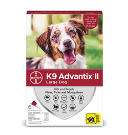 Bayer Advantix II Flea Tick & Mosquito Prevention - Topical - Large - 6pk