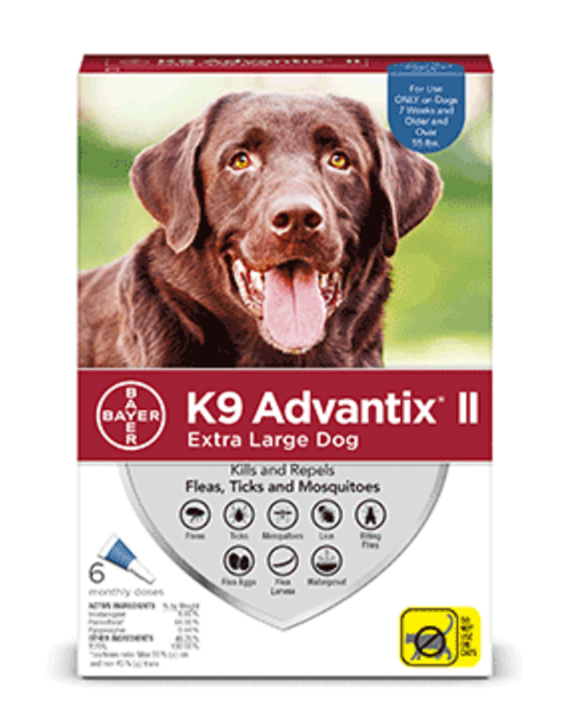 Bayer Advantix II Flea Tick & Mosquito Prevention - Topical - XL - 6pk