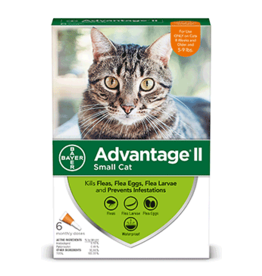 Bayer Advantage II Flea Treatment - Topical - Small Cat - 6pk