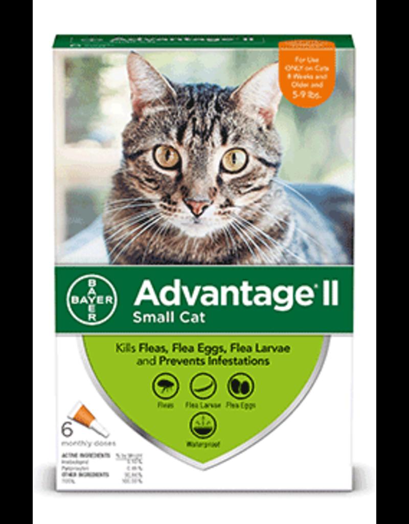 Bayer Advantage II Flea Treatment - Topical - Small Cat - 6pk