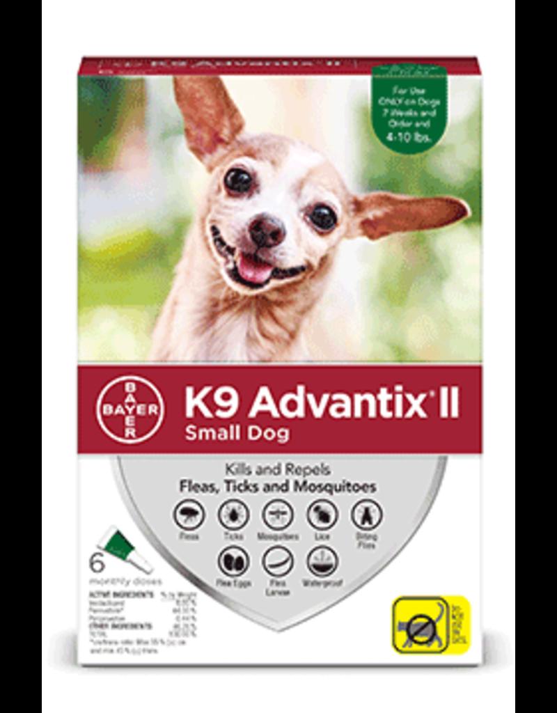 Bayer Advantix II Flea Tick & Mosquito Prevention - Topical - Small - 6pk