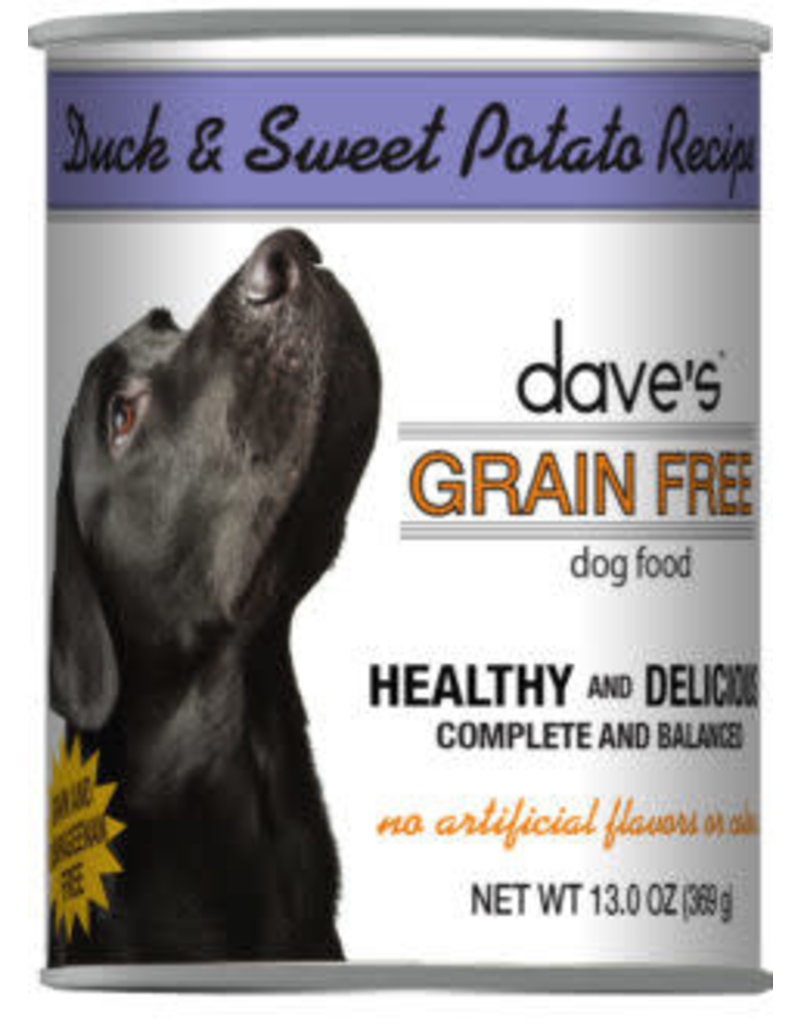 Dave's Grain Free Duck & Sweet Potato 13.2oz