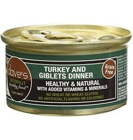 Dave's Cat Grain Free Turkey & Giblets 3oz