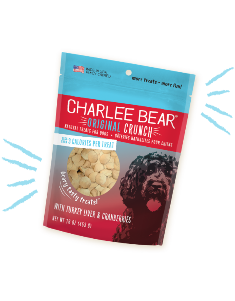 Charlee Bear Turkey Liver & Cranberry Treats 16oz