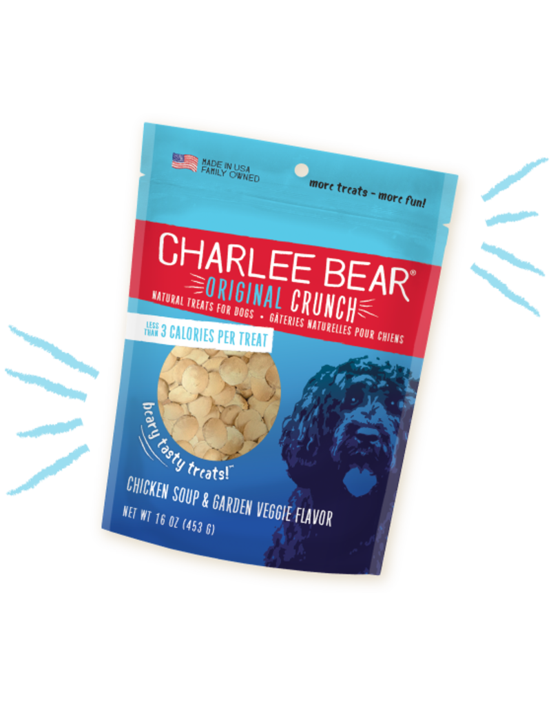 Charlee Bear Chicken Soup & Garden Veggie Treats 16oz