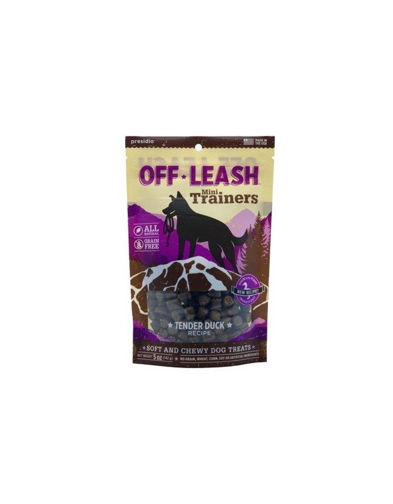 Presidio Off Leash Mini Trainers Duck 14oz