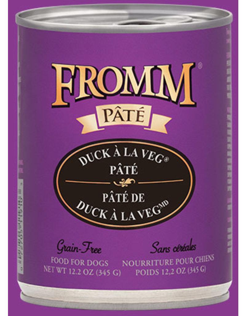 Fromm Duck A La Veg Pate' 12.2oz