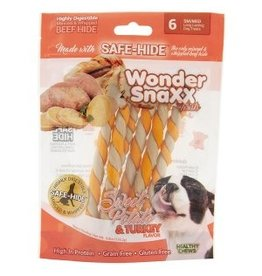 WonderSnaxx Sweet Potato & Turkey Twists Small/Medium 6ct