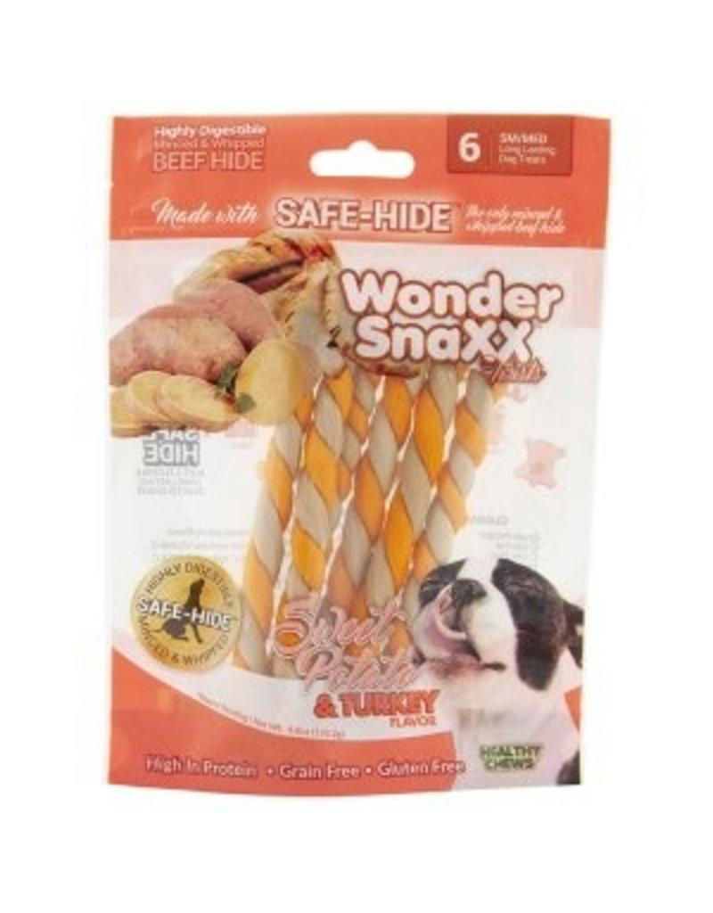 WonderSnaxx Sweet Potato & Turkey Twists Small/Medium 6ct