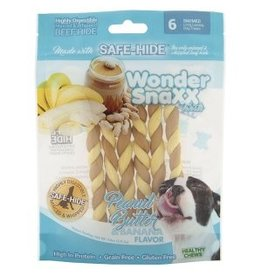 WonderSnaxx Peanut Butter & Banana Twists Small/Medium 6ct