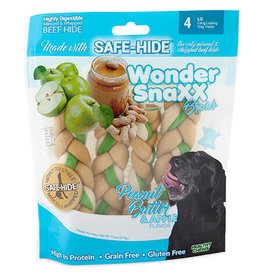 WonderSnaxx Peanut Butter & Apple Braid Large 4ct