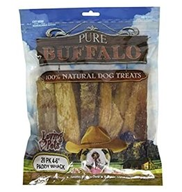 "Loving Pets Pure Buffalo PaddyWhack 4-6"" 20pk"