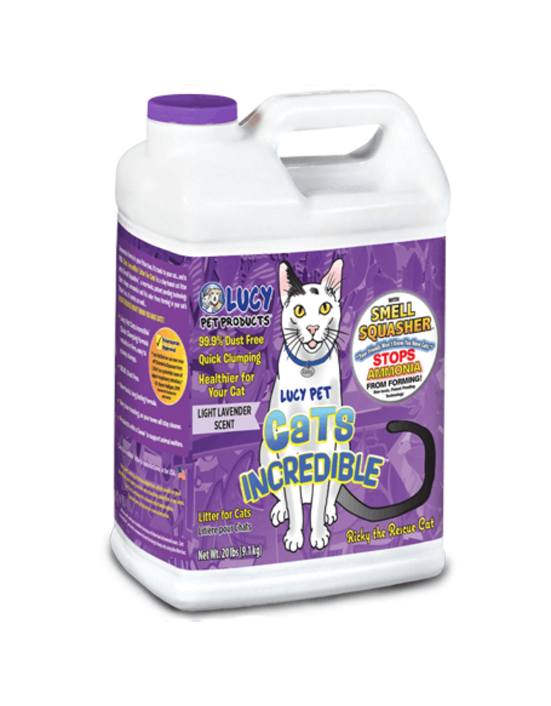 Lucy's Pet Products Cats Incredible Lavender Litter 20lb