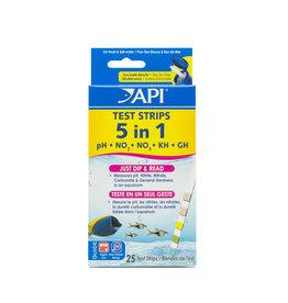 API Fishcare 5 in 1 Test Strips 25pk