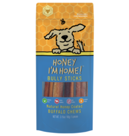 Honey I'm Home Honey Coated Buffalo Bully Sticks 6in 5pk