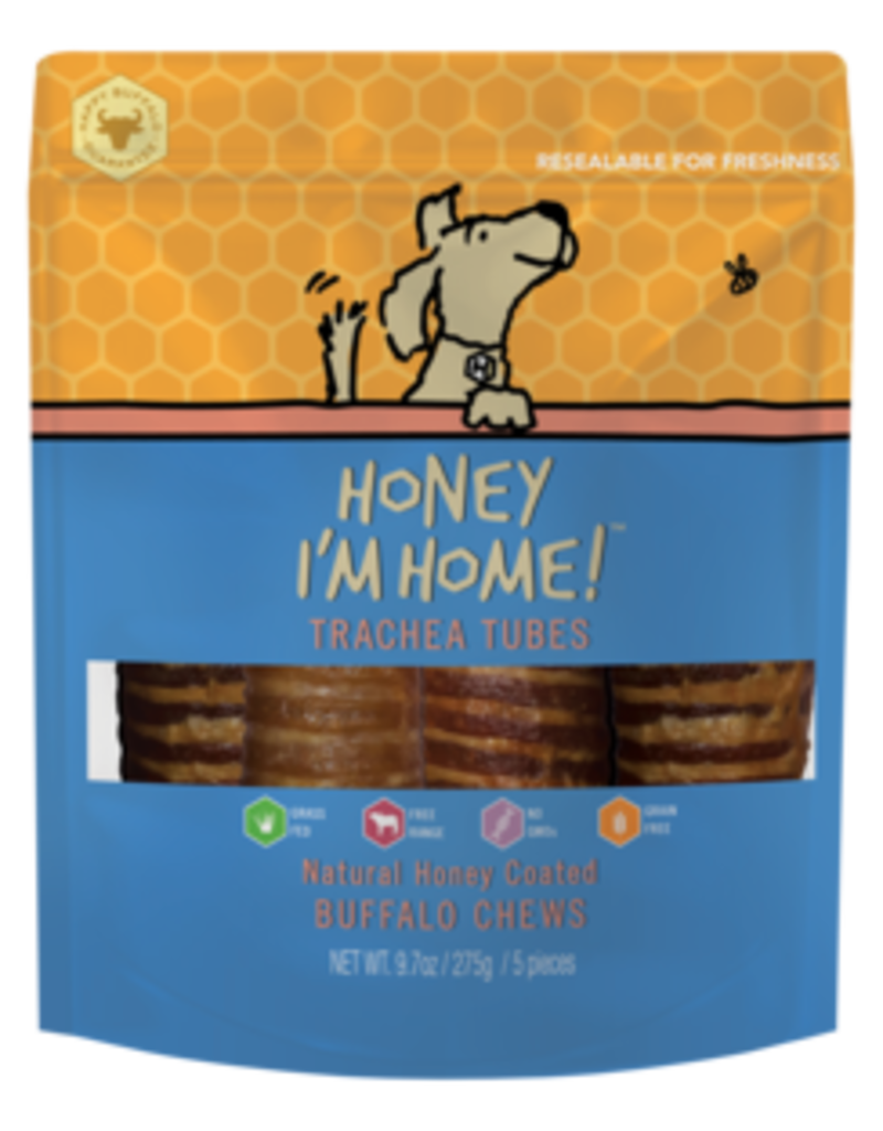 Honey I'm Home Honey Coated Buffalo Trachea Tubes 5pk