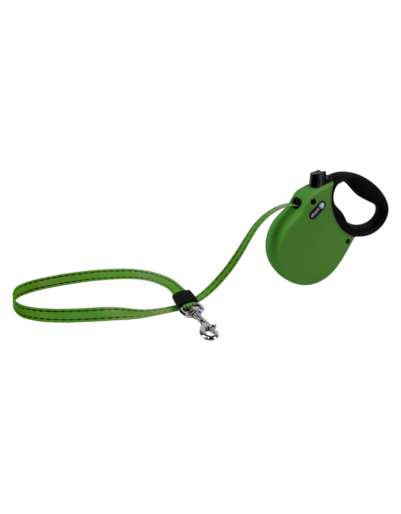 Alcott Adventure Retractable Leash Green Large
