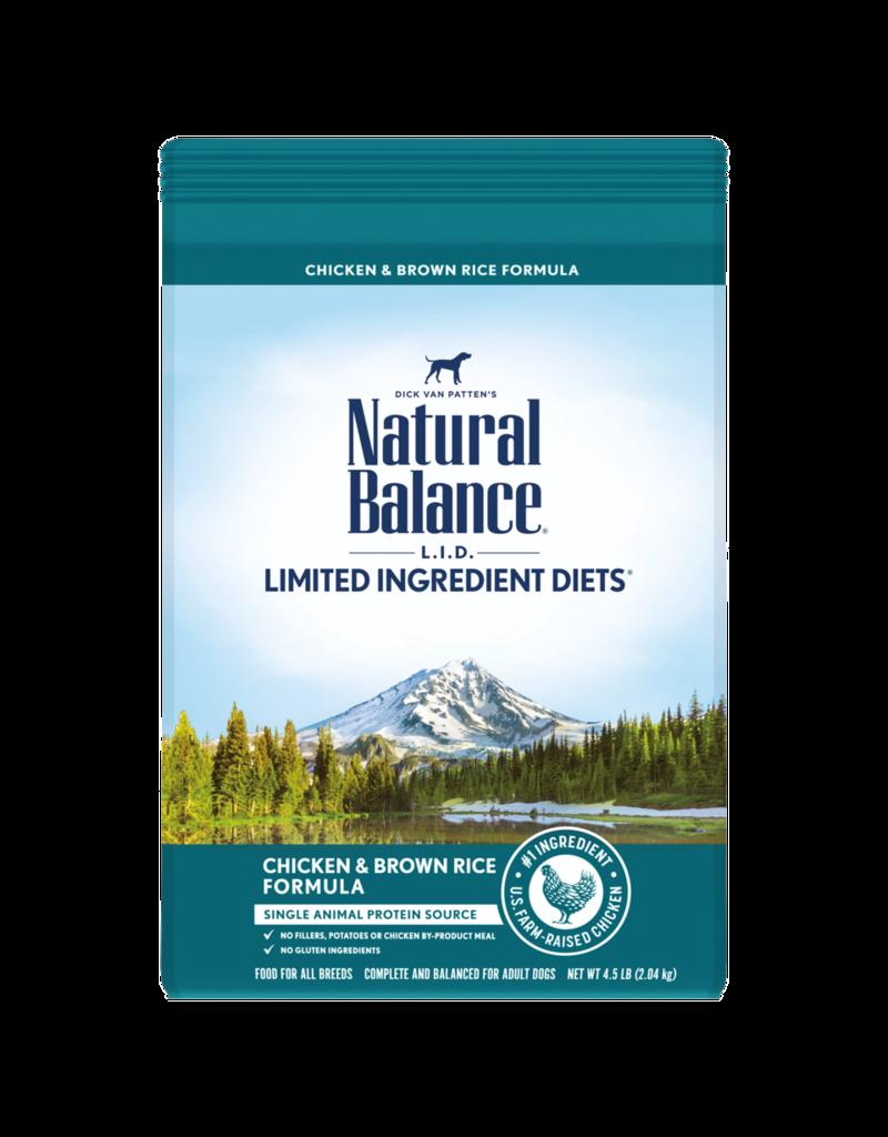 Natural Balance Dog Chicken & Brown Rice LID 12lb