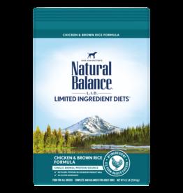 Natural Balance Dog Chicken & Brown Rice LID 26lb