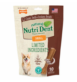Nylabone NutriDent Filet Mignon Natural Dental Chew Small 10ct