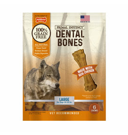 Nylabone Primal Instinct Dental Bone Chicken Large 6ct