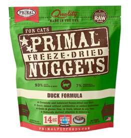 Primal Feline Freeze-Dried Raw Nuggets Duck 14oz