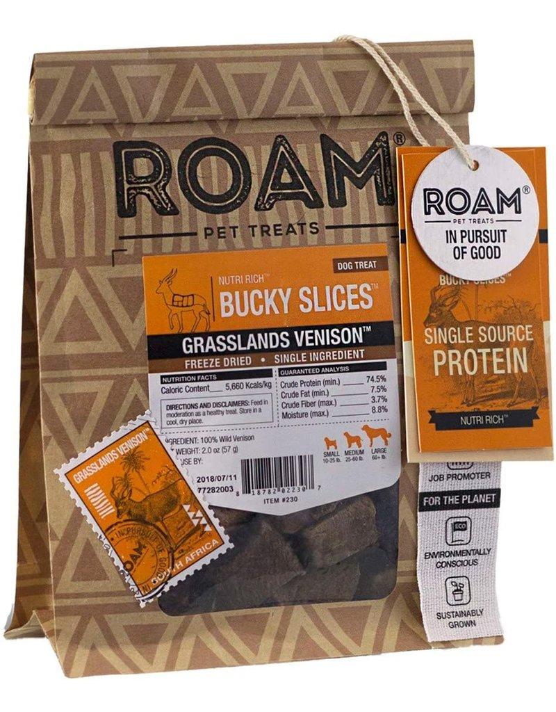 ROAM Grasslands Venison Bucky Slices 2oz