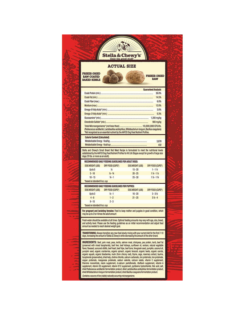 Stella & Chewy's Raw Blend Red Meat Recipe Small Breed 3.5lb