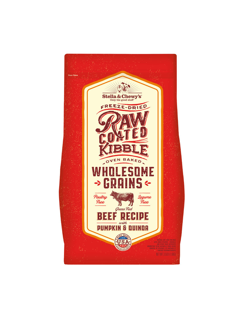 Stella & Chewy's Raw Coated Beef Recipe with Wholesome Grains 3.5lb