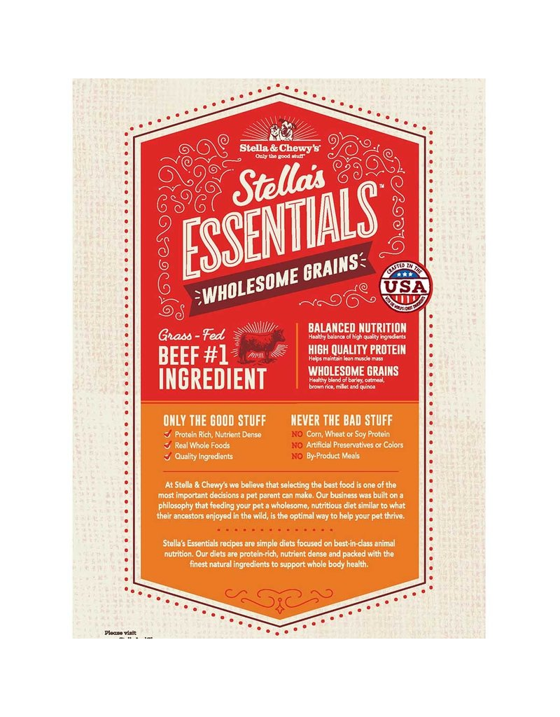 Stella & Chewy's Essentials Grass Fed Beef & Ancient Grains 3lb