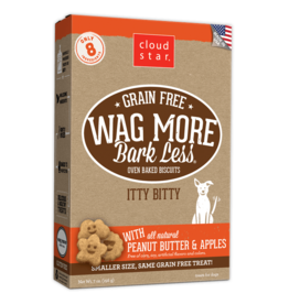Cloud Star Wag More Grain Free Itty Bitty Peanut Butter & Apple Biscuit