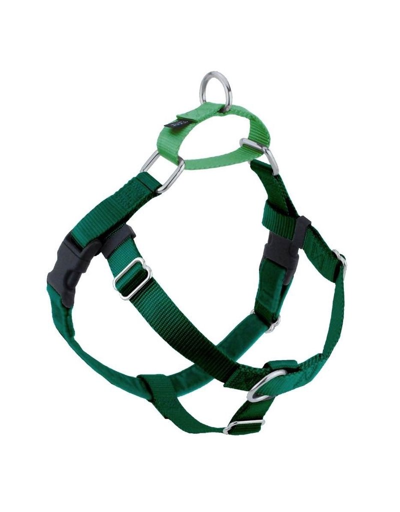 2 Hounds Freedom Harness L Kelly Green