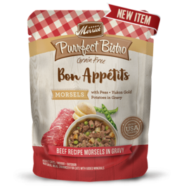 Merrick Purrfect Bistro Bon Appetites Beef Morsels in Gravy 3oz