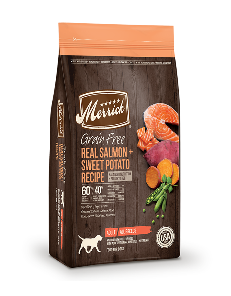 Merrick Grain Free Salmon & Sweet Potato Recipe 10lb