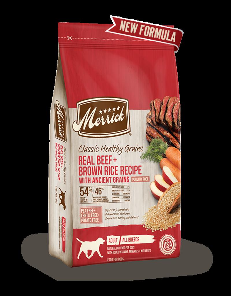 Merrick Classic Healthy Grains Beef & Brown Rice 12lb