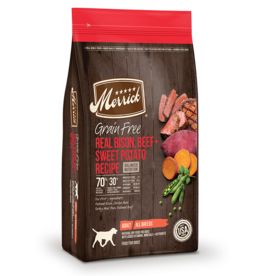 Merrick Grain Free Bison Beef & Sweet Potato 25lb