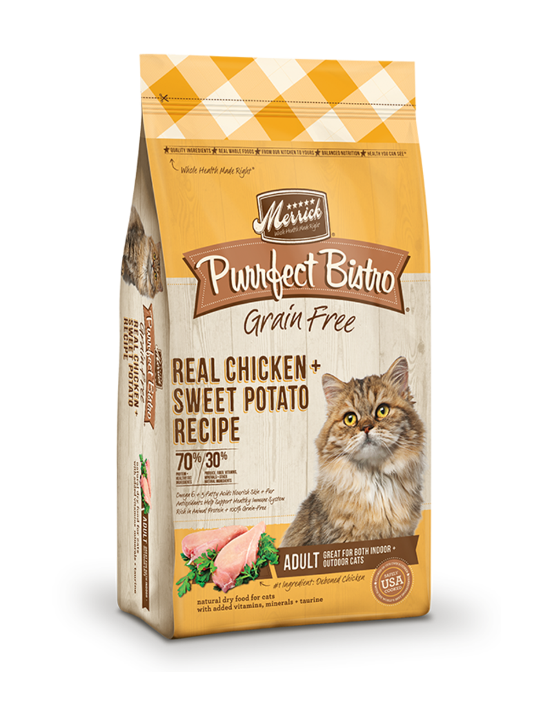 Merrick Purrfect Bistro Grain Free Adult Chicken & Sweet Potato 4lb