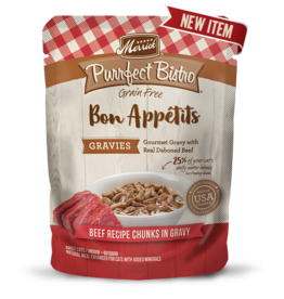 Merrick Purrfect Bistro Bon Appetits Beef Chunks in Gravy 3oz