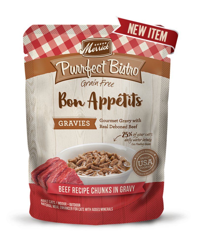 Merrick Purrfect Bistro Bon Appetits Beef Chunks in Gravy 3oz