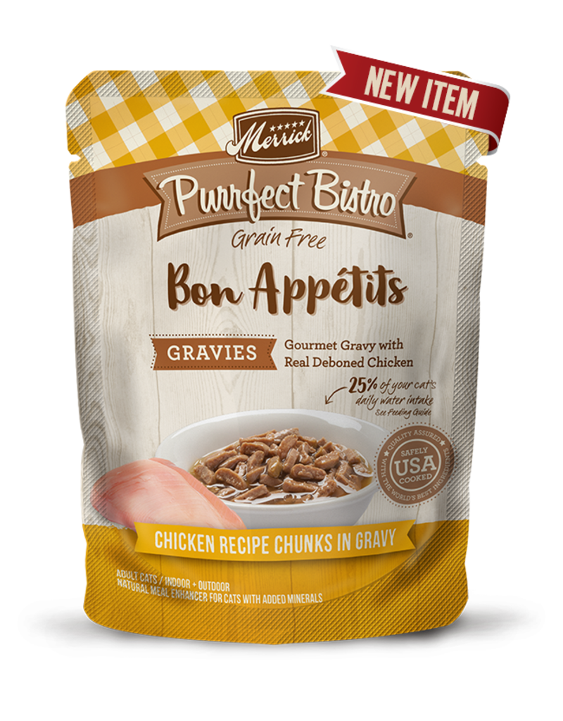 Merrick Purrfect Bisto Bon Appetits Chicken Chunks in Gravy 3oz