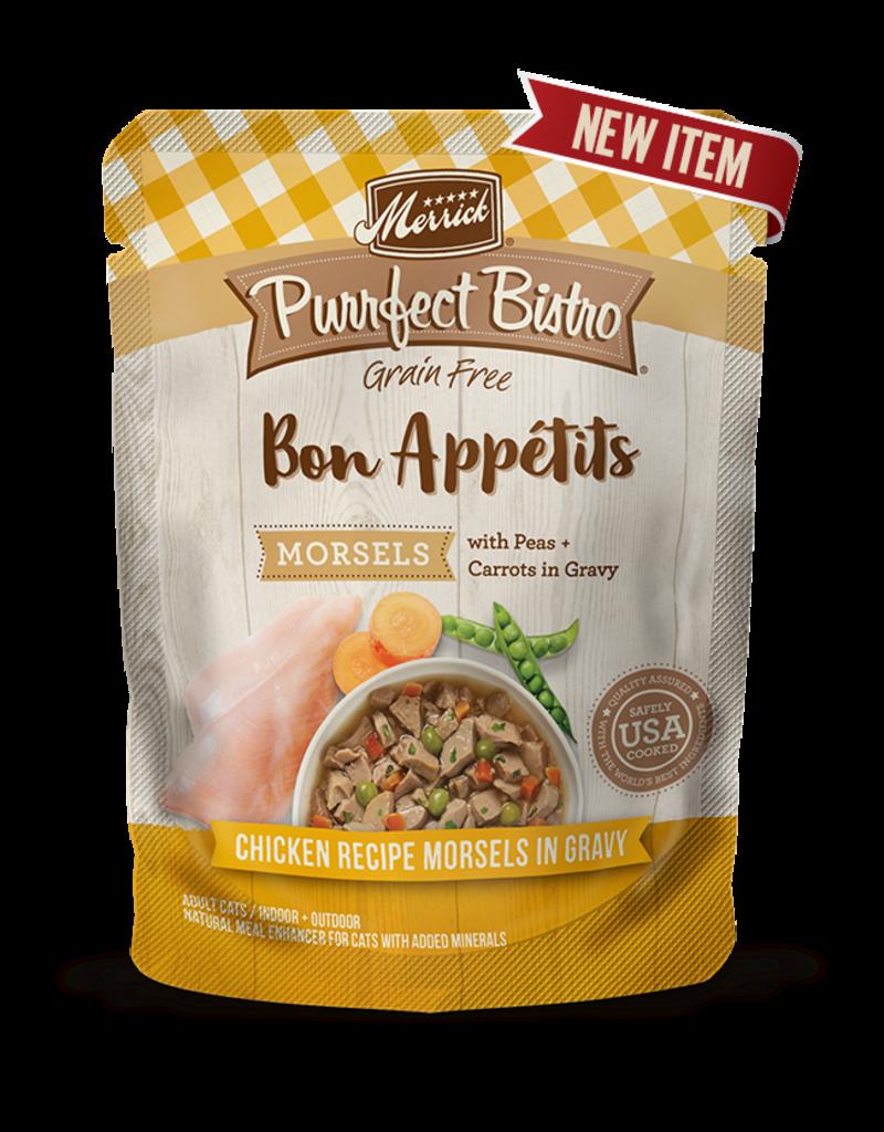 Merrick Purrfect Bistro Bon Appetits Chicken Morsels in Gravy 3oz