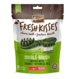 Merrick Fresh Kisses Double-Brush with Coconut & Botanical Oils Medium 6ct