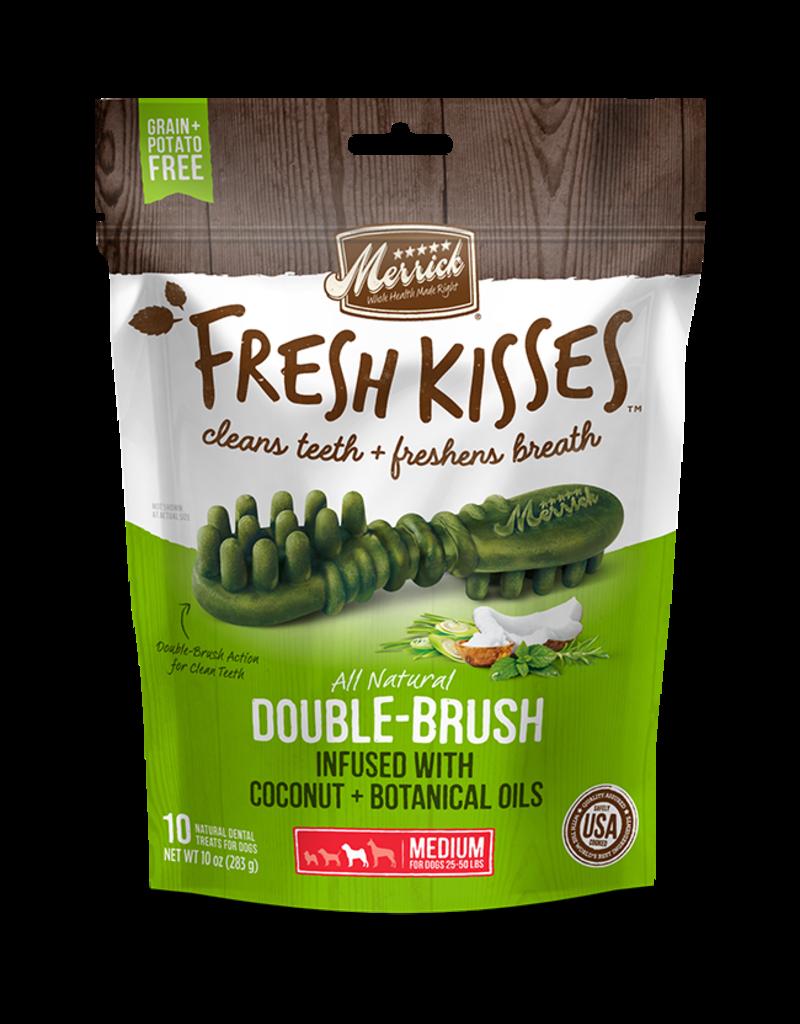Merrick Fresh Kisses Double-Brush with Coconut & Botanical Oils Medium 6ct