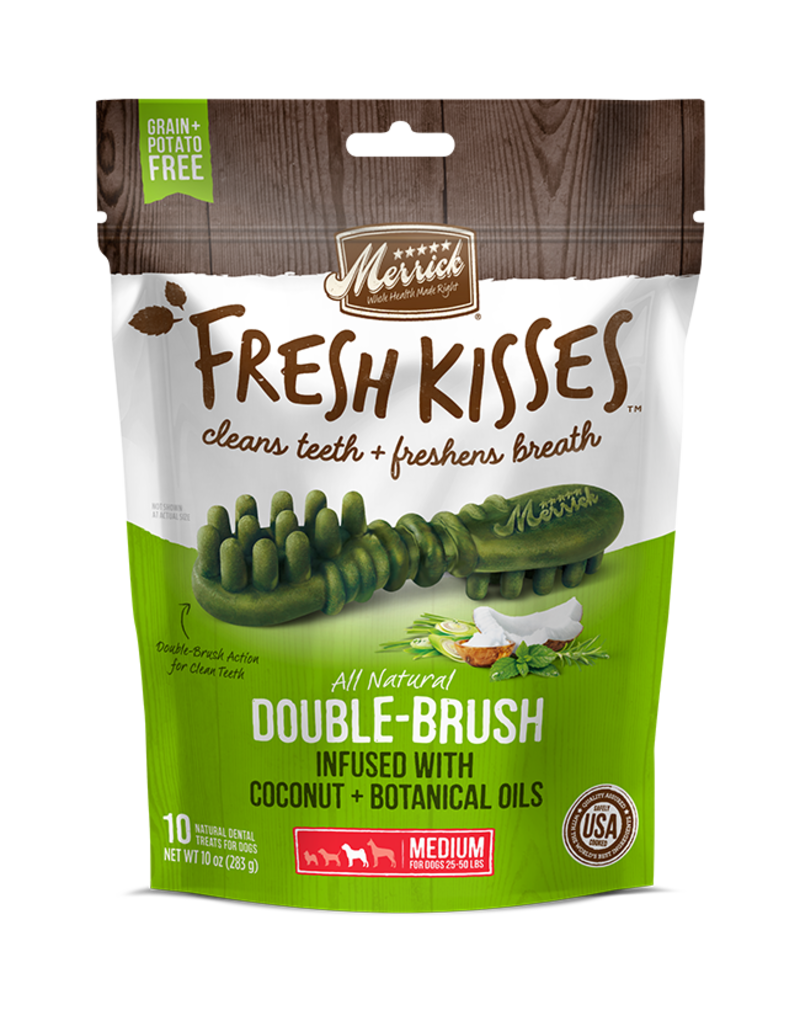 Merrick Fresh Kisses Double-Brush with Coconut & Botanical Oils Medium 10ct